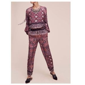 Anthropologie Rosewood Jumpsuit By Cynthia Vincent
